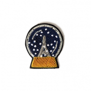 "Brooch ""Paris snow ball"""
