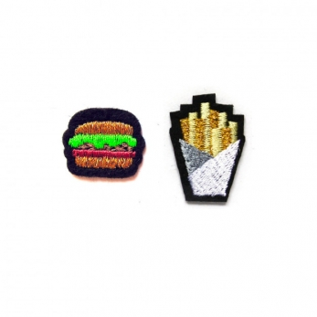 "Patches ""Hamburger & French fries"""