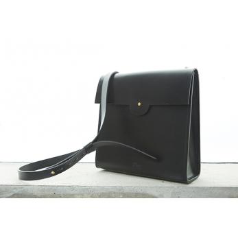 Leather Shoulder Square Bag