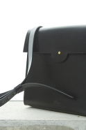 Leather Shoulder Square Bag