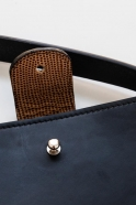 Leather Shoulder Round Bag