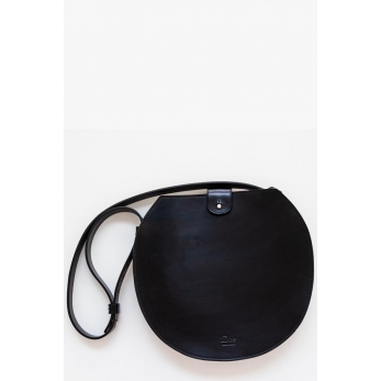 Leather Shoulder Round Bag