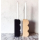 Wooden Round natural candlestick
