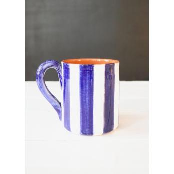 """Tasse """"rayures verticales"""" bleue"""