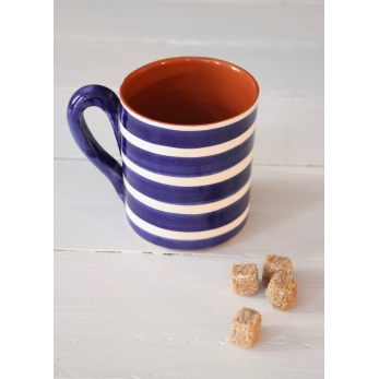 "Mug ""horizontal stripes"" blue"