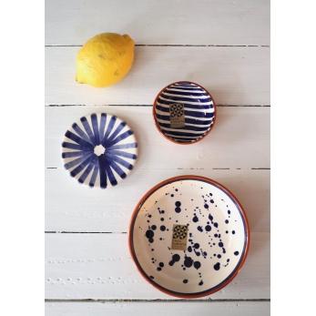 Dots low bowl, blue