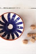"Small bowl ""ray"" blue"