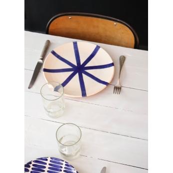 """assiette """"étoile"""" bleue"""