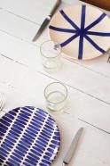 Dash plate blue