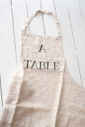 """Apron """"A Table"""" natural"""
