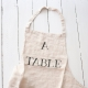 "Tablier ""A Table"" naturel"
