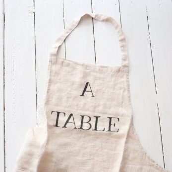 "Apron ""A Table"" natural"