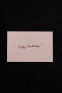 Mini carte postale Hapy birthday rose