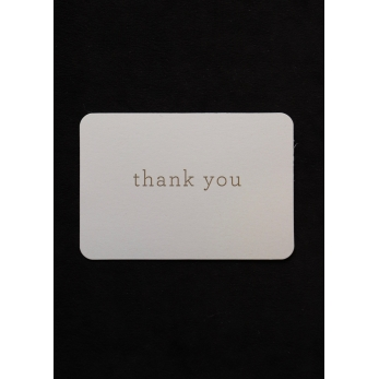"Mini card + enveloppe ""Thank you"""