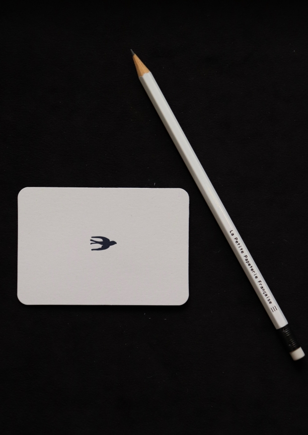 Mini carte postale + enveloppe Oiseau