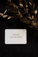 """Mini card + enveloppe """"Vive les mariés"""""""