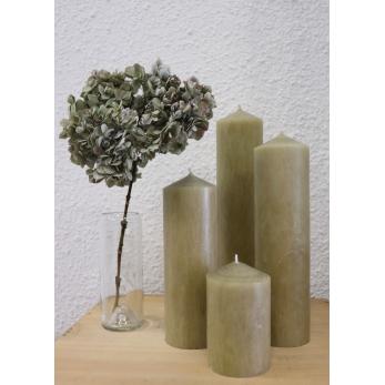 """Pillar candle, """"linen"""""""