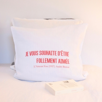 "Pillow cases ""L'amour Fou"" red"