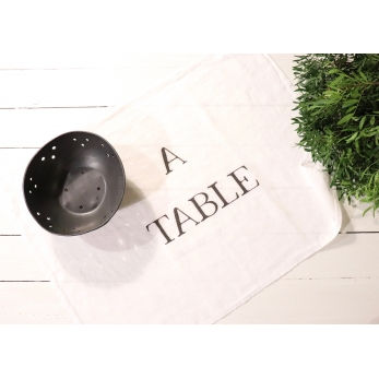 "Dish towel ""A Table"" white"