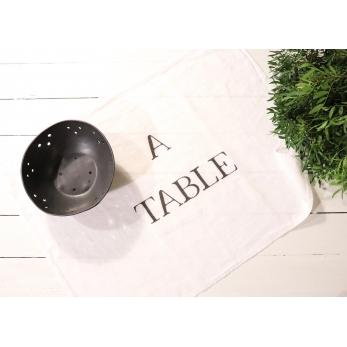 "Torchon ""A Table"" blanc"