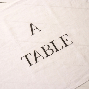 """Dish towel """"A Table"""" white"""