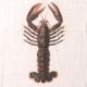 """Napkins """"Lobster"""" white"""