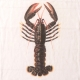 "Serviette de table ""Homard"" blanche"