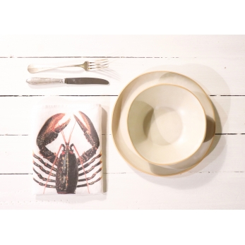 "Napkins ""Lobster"" white"