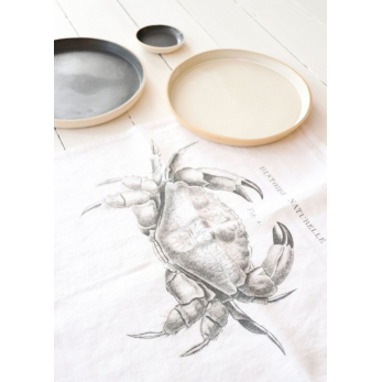 "Serviette de table ""Crabe"" blanche"