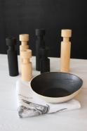 Bougeoir en bois cylindre naturel
