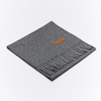 Dark grey alpaga scarve