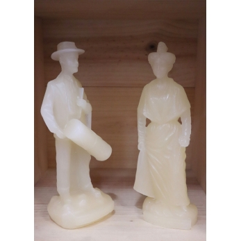 Papyrus wax woman figurine