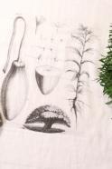 "Dish towel ""Plant Board"" white"