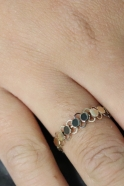 Fine gold chain mail ring