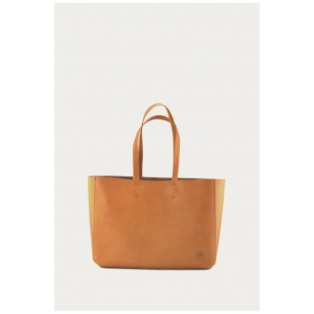 Bag Cabas, camel leather