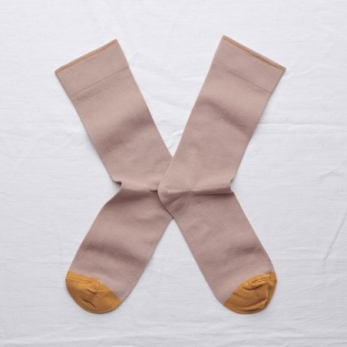Chaussettes unies nude