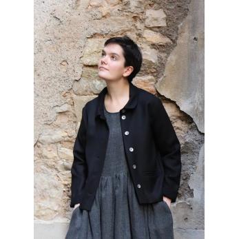 Veste femme, flanelle noire