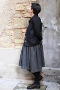 Woman jacket, black flannel