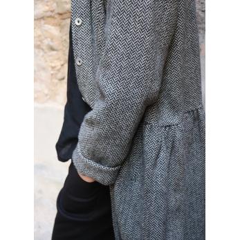 Robe-chemise, drap chevron