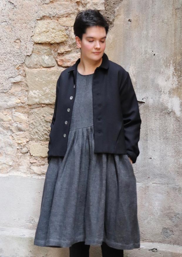 Tailor jacket, black flannel