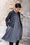 Veste tailleur, flanelle noire