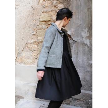 Woman jacket, herringbone wool drap