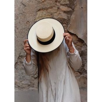Long sleeves pleated long dress, natural linen
