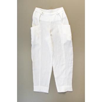 Pantalon été, lin blanc