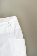 Summer trousers, white linen