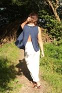 Summer trousers, natural heavy linen