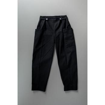 Summer trousers, black denim