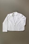 Veste évasée , jean blanc