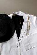 Flared jacket, white denim