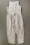 Sleveless pleated jumpsuit, natural heavy linen
